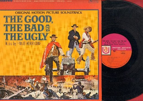 Morricone, Ennio - The Good, The Bad & The Ugly - Original Motion Picture Soundtrack (vinyl STEREO LP record) - EX8/EX8 - LP Records