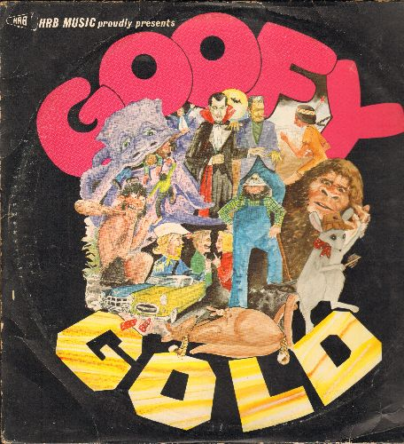 Picket, Bobby, Sheb Wooley, Coasters, Nervous Norvus, others - Goofy Gold: Monster Mash, Alley Oop, Transfusion, Mr. Custer, Purple People Eater (re-issue of vintage Novelty Hits on 2 vinyl LP records) - NM9/VG7 - LP Records