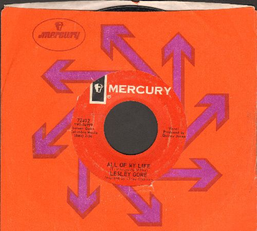 Gore, Lesley - All Of My Life/I Cannot Hope For Anyone (with Mercury company sleeve) - VG7/ - 45 rpm Records