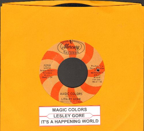 Gore, Lesley - Magic Colors/It's A Happening World (with juke box label) (bb) - EX8/ - 45 rpm Records