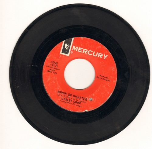 Gore, Lesley - Brink Of Disaster/On A Day Like Today (bb) - VG7/ - 45 rpm Records