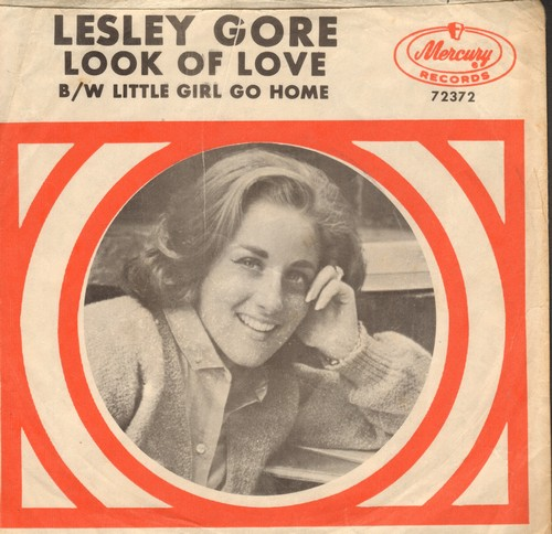 Gore, Lesley - Look Of Love/Little Girl Go Home (with RARE picture sleeve, NICE condition!) - EX8/EX8 - 45 rpm Records