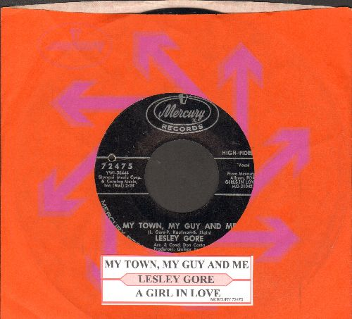Gore, Lesley - My Town, My Guy And Me/A Girl In Love (with juke box label and Mercury company sleeve)(bb) - NM9/ - 45 rpm Records