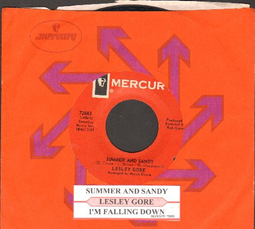 Gore, Lesley - Summer And Sandy/I'm Fallin' Down (with juke box label and Mercury company sleeve)(bb) - NM9/ - 45 rpm Records