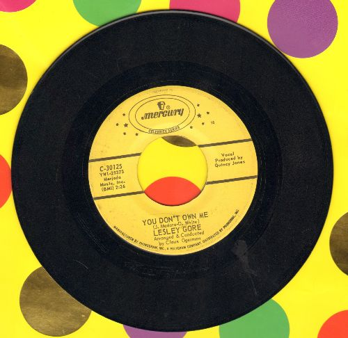 Gore, Lesley - You Don't Own Me/Judy's Turn To Cry (authentic-looking double-hit re-issue) - NM9/ - 45 rpm Records