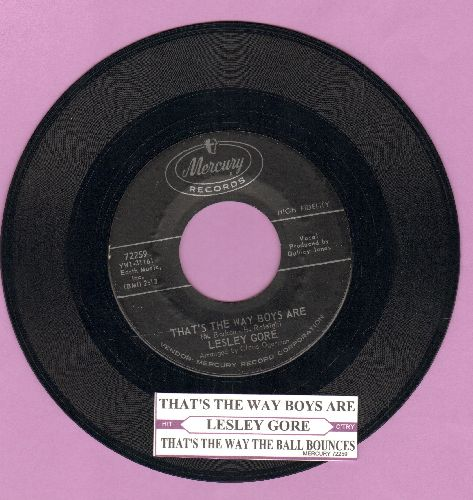 Gore, Lesley - That's The Way Boys Are/That's The Way The Ball Bounces (with juke box label) - EX8/ - 45 rpm Records
