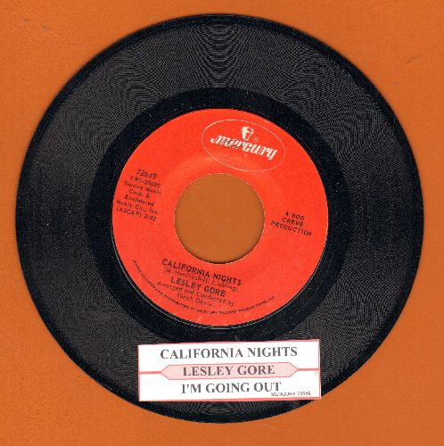 Gore, Lesley - California Nights/I'm Going Out (The Same Way I Came In) (with juke box label)(bb) - NM9/ - 45 rpm Records