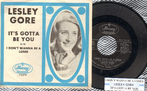 Gore, Lesley - I Don't Wanna Be A Loser/It's Gotta Be You (with juke box label and picture sleeve) - NM9/NM9 - 45 rpm Records