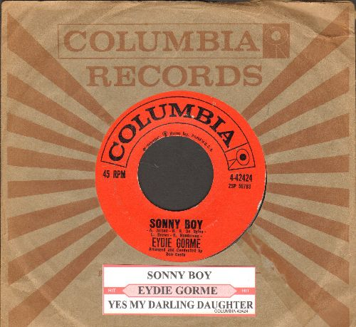 Gorme, Eydie - Sonny Boy/Yes My Darling Daughter (with juke box label and Columbia company sleeve) - EX8/ - 45 rpm Records