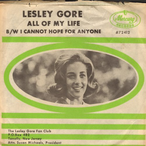 Gore, Lesley - All Of My Life/I Cannot Hope For Anyone (with picture sleeve) - NM9/EX8 - 45 rpm Records