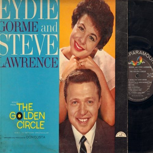 Gorme, Eydie & Steve Lawrence - Songs From The Golden Circle: Bei Mir Bist Du Schoen, White Christmas, Sentimental Journey, Marie (Vinyl MONO LP record, no label number given) - EX8/VG6 - LP Records