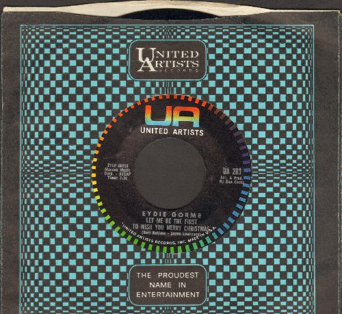 Gorme, Eydie - Let Me Be The First To Wish You A Merry Christmas/I Love To Dance (MINT condition with vintage United Artists company sleeve) - M10/ - 45 rpm Records