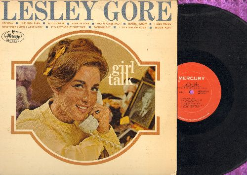 Gore, Lesley - Girl Talk: Hey Now, Look Of Love, Maybe I Know, It's Just About That Time (vinyl MONO LP record) - VG6/VG7 - LP Records