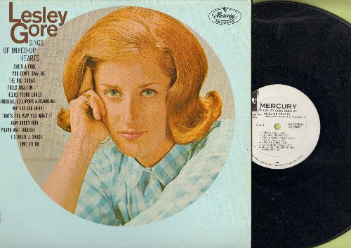 Gore, Lesley - Lesley Gore Sings Of Mixed-Up Hearts: She's A Fool, You Don't Own Me, Sunshine Lollipops And Rainbows (vinyl MONO LP record, RARE DJ advance pressing) - EX8/EX8 - LP Records