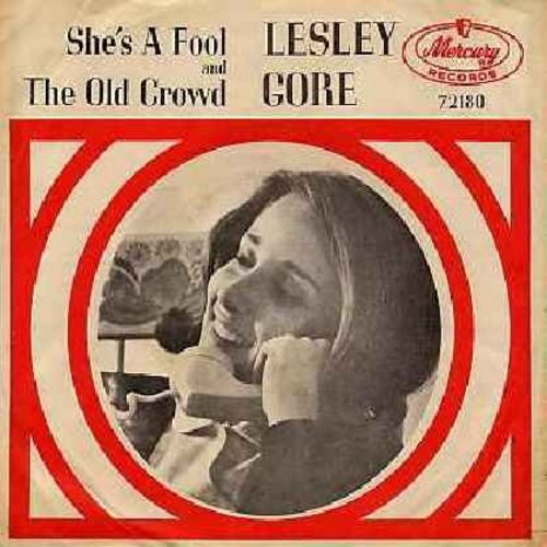 Gore, Lesley - She's A Fool/The Old Crowd (with picture sleeve) (minor wos) - EX8/EX8 - 45 rpm Records