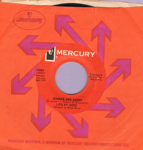 Gore, Lesley - Summer And Sandy/I'm Fallin' Down (with Mercury company sleeve) - NM9/ - 45 rpm Records
