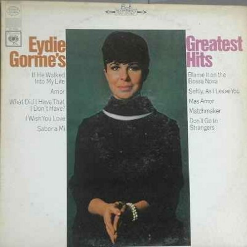 Gorme, Eydie - Greatest Hits: Blame It On The Bossa Nova, Matchmaker, Softly As I Leave You, Mas Amor, Sabor a Mi, Amor, Don't Go To Strangers (Vinyl LP record) - NM9/EX8 - LP Records