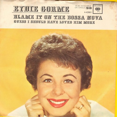 Gorme, Eydie - Blame It On The Bossa Nova/Guess I Should Have Loved Him More (with picture sleeve) - EX8/VG7 - 45 rpm Records