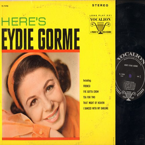 Gorme, Eydie - Here's Eydie Gorme: Frenesi, Tea For Two, Uska Dara, That Night In Heaven (Vinyl STEREO LP record) - NM9/EX8 - LP Records