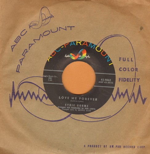 Gorme, Eydie - Love Me Forever/Let Me Be Loved (with vintage ABC-Paramount company sleeve) - EX8/ - 45 rpm Records