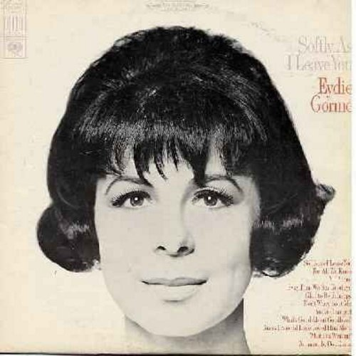Gorme, Eydie - Softly, As I Leave You: For All We Know, Glad To Be Unhappy, All Alone, What's Good About Goodbye? (vinyl STEREO LP record) - NM9/EX8 - LP Records