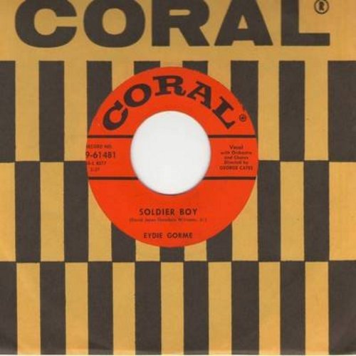 Gorme, Eydie - Soldier Boy/What Is The Secret Of Your Success? (with vintage Coral company sleeve) - EX8/ - 45 rpm Records