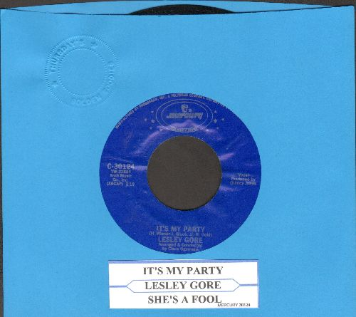 Gore, Lesley - It's My Party/She's A Fool (double-hit re-issue with juke box label) - NM9/ - 45 rpm Records