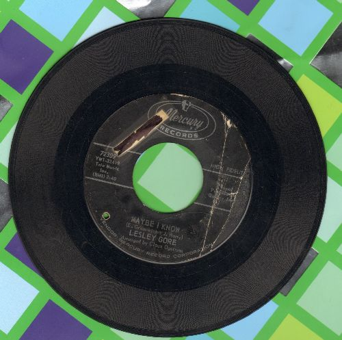 Gore, Lesley - Maybe I Know/Wonder Boy (wol/sol/bb) - VG7/ - 45 rpm Records