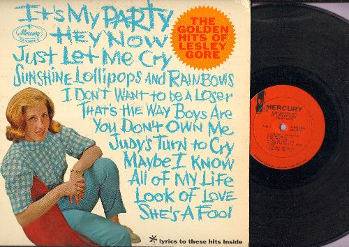 Gore, Lesley - The Golden Hits Of Lesley Gore: It's My Party, Just Let Me Cry, Sunshine Lollipos And Rainbows, Jusy's Turn To Cry, Look Of Love, You Don't Own Me (vinyl MONO LP record) - EX8/EX8 - LP Records