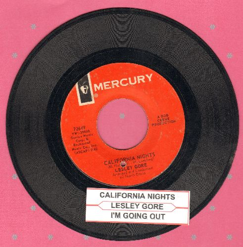 Gore, Lesley - California Nights/I'm Going Out (The Same Way I Came In) (with juke box label)(bb) - VG7/ - 45 rpm Records