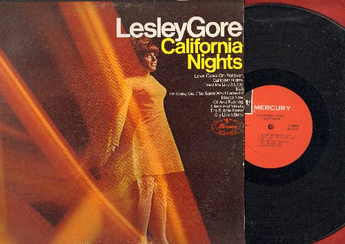 Gore, Lesley - California Nights: Cry Like A Baby, The Bubble Broke, Love Goes On Forever (vinyl STEREO LP record) - VG7/VG7 - LP Records