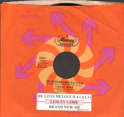 Gore, Lesley - He Gives Me Love (La La La)/Brand New Me (with juke box label and Mercury company sleeve) - M10/ - 45 rpm Records