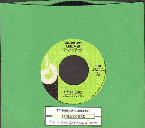 Gore, Lesley - Why Doesn't Love Make Me Happy/Tomorrow's Children (RARE Bubblegum Era 2-sider with juke box label) - NM9/ - 45 rpm Records