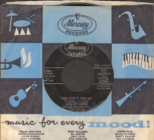 Gore, Lesley - You Don't Own Me/Run Bobby, Run with vintage Mercury company sleeve) - NM9/ - 45 rpm Records
