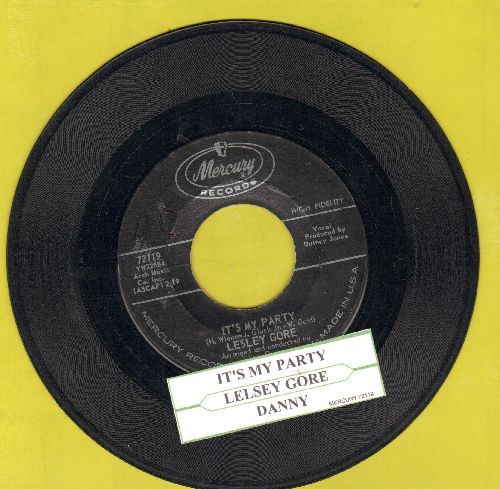 Gore, Lesley - It's My Party/Danny (with juke box label) - VG7/ - 45 rpm Records