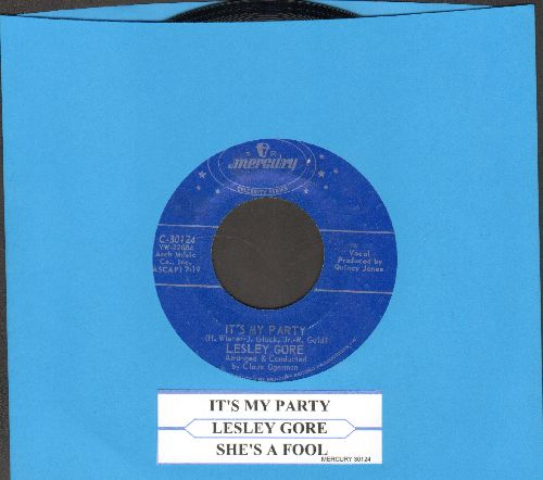 Gore, Lesley - It's My Party/She's A Fool (double-hit re-issue with juke box label) - EX8/ - 45 rpm Records