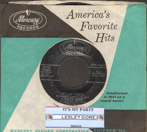 Gore, Lesley - It's My Party/Danny (with juke box label and vintage Mercury company sleeve) - EX8/ - 45 rpm Records