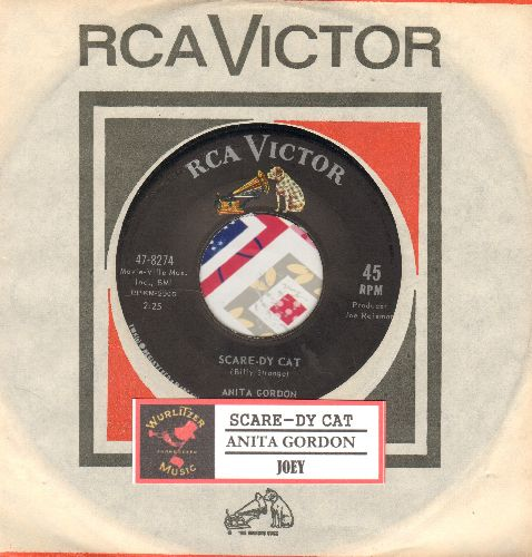 Gordon, Anita - Scare-Dy Cat/Joey (RARE 60s Girl-Sound 2-sider with RCA company sleeve and juke box label) - NM9/ - 45 rpm Records