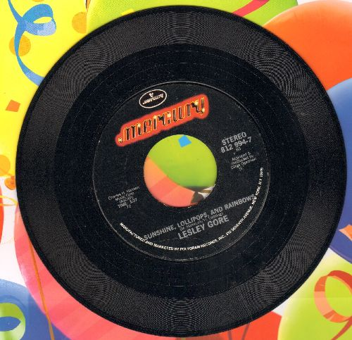 Gore, Lesley - Sunshine, Lollipops And Rainbows/Maybe I Know (authentic-looking double-hit re-issue) - NM9/ - 45 rpm Records
