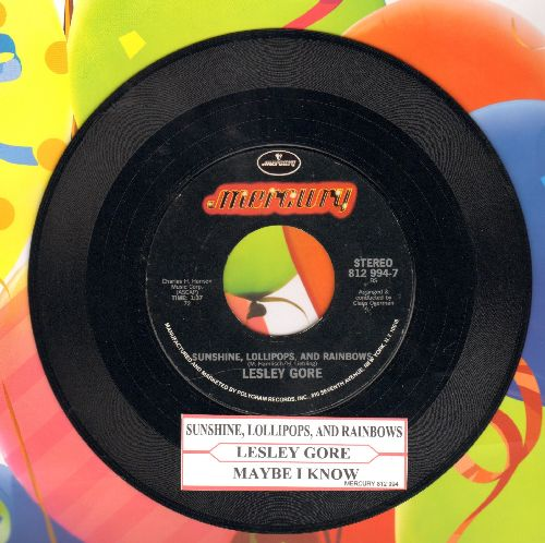 Gore, Lesley - Sunshine, Lollipops And Rainbows/Maybe I Know (double-hit re-issue with juke box label) - NM9/ - 45 rpm Records