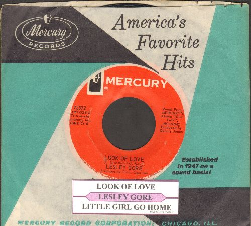 Gore, Lesley - Look Of Love/Little Girl Go Home (with juke box label and Mercury company sleeve) - EX8/ - 45 rpm Records