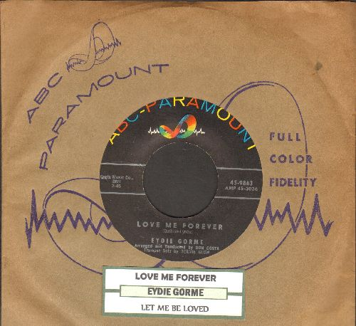Gorme, Eydie - Love Me Forever/Let Me Be Loved (with juke box label and vintage ABC-Paramount company sleeve) - NM9/ - 45 rpm Records