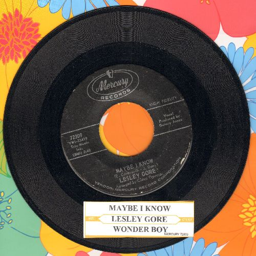 Gore, Lesley - Maybe I Know/Wonder Boy (with juke box label - EX8/ - 45 rpm Records