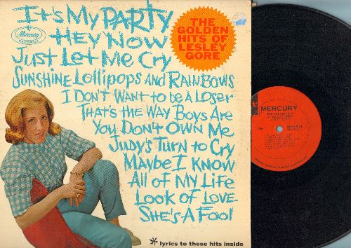 Gore, Lesley - The Golden Hits Of Lesley Gore: It's My Party, Judy's Turn To Cry, Look Of Love, Sunshine Lollipops And Rainbows (Vinyl MONO LP record, 1963 first pressing) - EX8/VG7 - LP Records