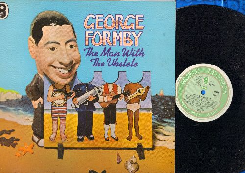 Formby, George - The Man With The Ukelele: The Wash House At The Back, Down The Old Cole Hole, Delivering The Morning Milk (Vinyl LP record, British Pressing) - EX8/NM9 - LP Records