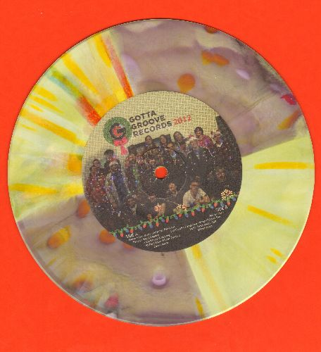 Gotta Groove Records - Happy Holidays From Vinyl Snow Angel And All Of The Gotta Grooves (7 inch 33 rpm EP color vinyl record, small spindle hole, Gotta Groove Records 2012 Christmas Promo) - NM9/ - 45 rpm Records