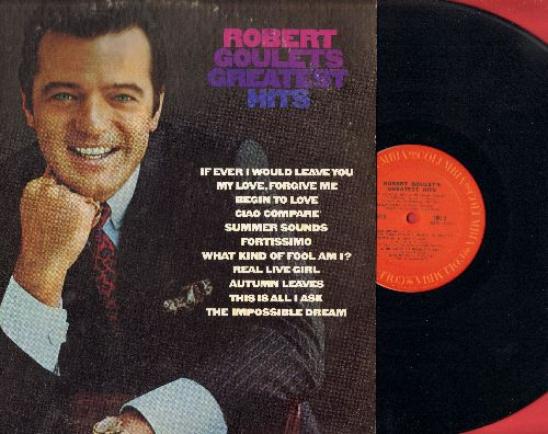 Goulet, Robert - Robert Goulet's Greatest Hits: The Impossible Dream, What Kind Of Fool Am I?, This Is All I Ask, Autumn Leaves (vinyl STEREO LP record) - NM9/EX8 - LP Records
