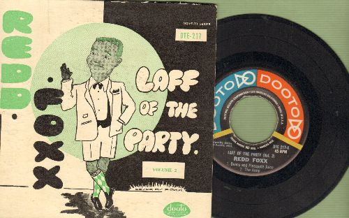 Foxx, Redd - Laff Of The Party Volume 2: The Animals/The Oowah Bird/Beans And Pineapple Juice/The Army (Vinyl EP record with picture cover) - EX8/VG7 - 45 rpm Records