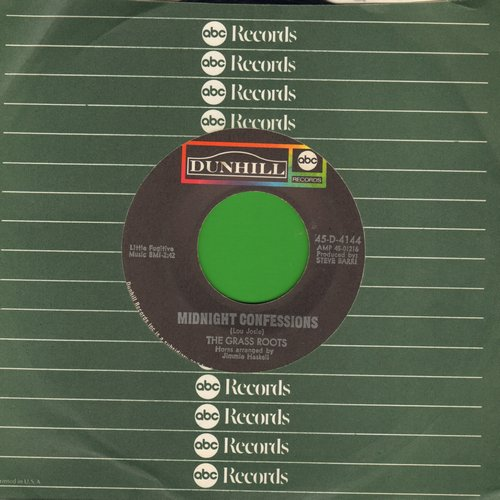 Grass Roots - Midnight Confessions/Who Will You Be Tomorrow (with ABC company sleeve) - EX8/ - 45 rpm Records