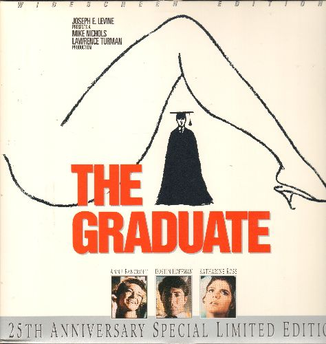 The Graduate - The Graduate - 25th Anniversary LASER DISC SET 1967 Classic Comedy Drama starring Dustin Hoffman and Anne Bancroft featuring the legendary Sound Track by Simon & Garfunkel - THIS IS A DOUBLE LASERDISC, NOT ANY OTHER KIND OF MEDIA! - NM9/EX8